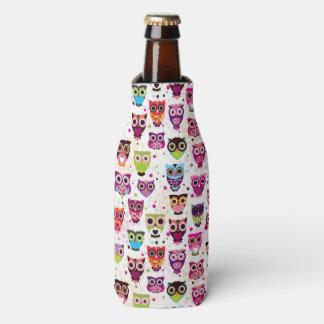 Cute owl background pattern for kids bottle cooler
