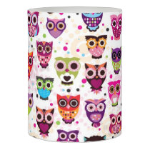 Cute owl background pattern for kids flameless candle