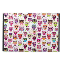 Cute owl background pattern for kids iPad air case