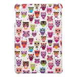 Cute owl background pattern for kids iPad mini case