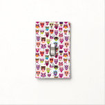 Cute owl background pattern for kids light switch plate