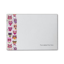 Cute owl background pattern for kids post-it notes