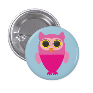 Cute Owl Badge 1 Inch Round Button