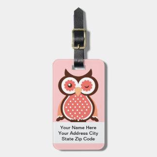 Cute Owl Bag Tags