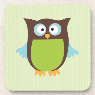 Cute Owl Beverage Coaster