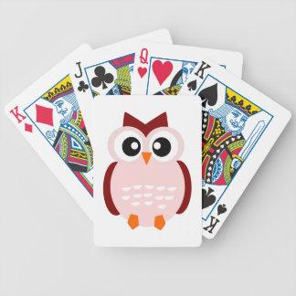Cute Owl Bicycle Card Decks