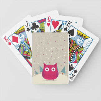 Cute owl bicycle poker cards