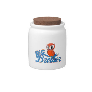 Cute Owl Big Brother Candy Dish