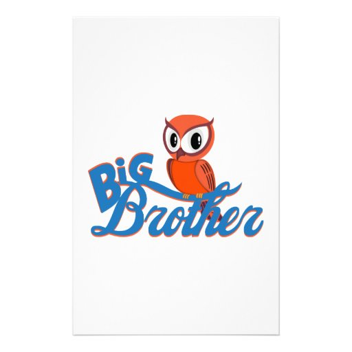 Cute Owl Big Brother Stationery