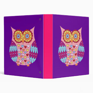 Cute Owl Binder