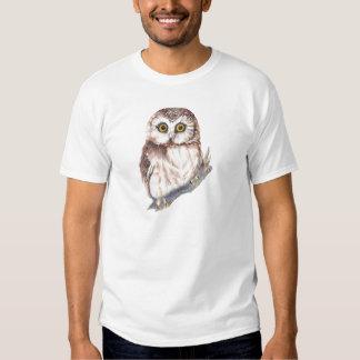 Cute Owl, Bird & Nature Watercolor Wildlife T Shirt