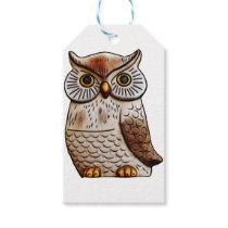 cute owl bird owl,cute,bird,fly,funny,animal,decor gift tags