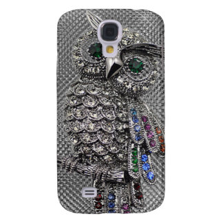 cute owl bling samsung galaxy s4 cover