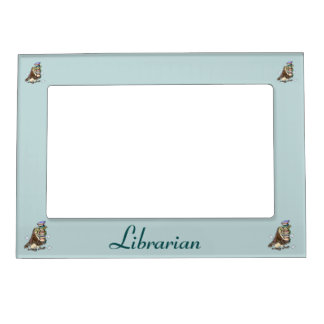 Cute Owl Book Lover Librarian Magnetic Frame
