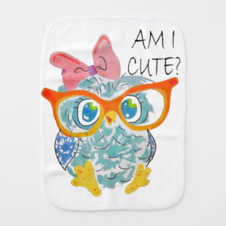 Cute Owl Burp Cloth