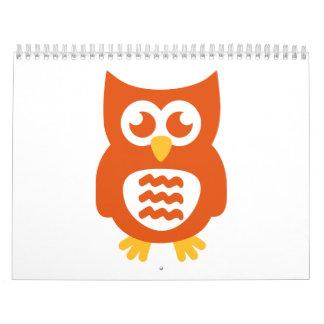 Cute owl calendar