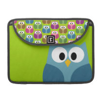 Cute Owl Cartoon and Pattern Sleeve For MacBook Pro