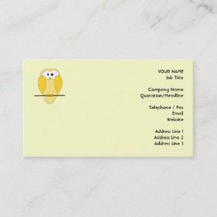 Cute owl business cards templates zazzle cute owl cartoon yellow business card colourmoves