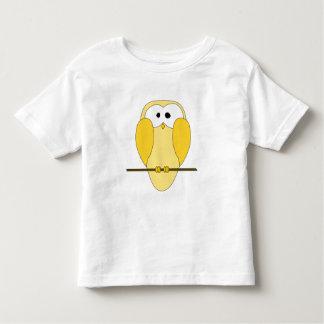 Cute Owl Cartoon. Yellow. Toddler T-shirt
