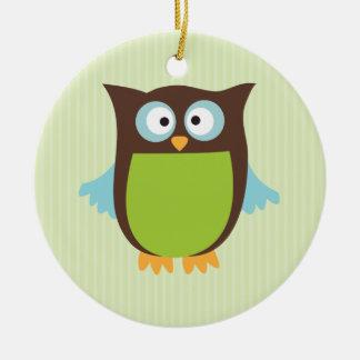 Cute Owl Ceramic Ornament