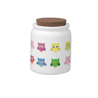 Cute Owl Character Candy Jar