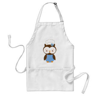Cute Owl Chef Adult Apron