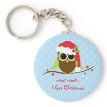 Cute Owl Christmas Key Chain