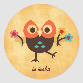 Cute Owl Classic Round Sticker