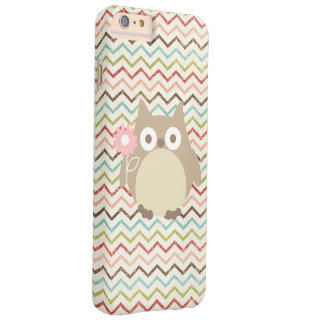 Cute Owl Colorful Modern Chevron Pattern Barely There iPhone 6 Plus Case