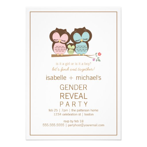 Gender Reveal Invitation Ideas with awesome invitations layout
