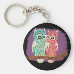 Cute Owl Couple Key Chains
