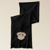 Cute Owl Couple Scarf