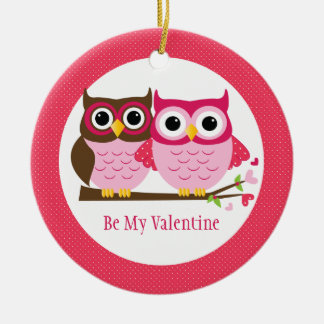 Cute Owl Couple Valentine's Day Ornament