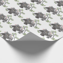 Cute Owl Couple Wrapping Paper
