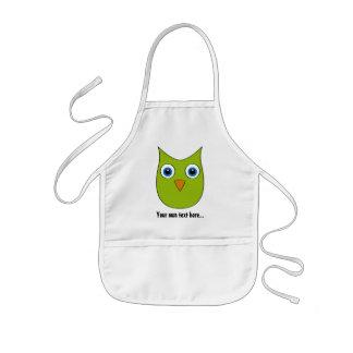Cute Owl - Customizable - Multiple colors Kids' Apron