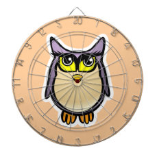 Cute Owl Dartboard With Darts