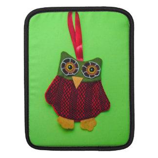 Cute owl decoration iPad sleeve