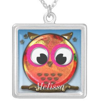 Cute owl design custom necklace