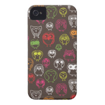 Cute owl doodle pattern Case-Mate iPhone 4 case