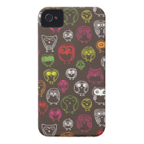 Cute owl doodle pattern iPhone 4 Case-Mate case