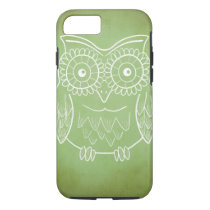 Cute Owl Drawing iPhone 8/7 Case