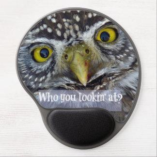 Cute Owl Face Gel Mouse Pad