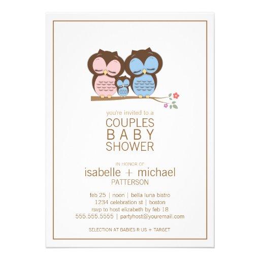 family couples baby shower invitation 5 x 7 invitation card