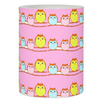 Cute Owl Family Flameless Candle