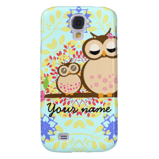 Cute Owl family pattern HTC Vivid Cases