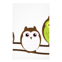 Cute Owl Family Stationery
