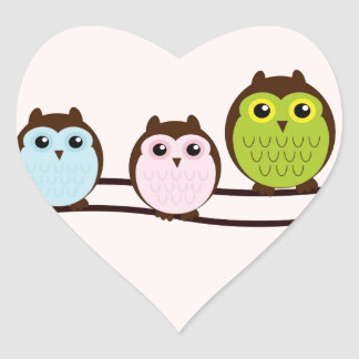 Cute Owl Family Stickers