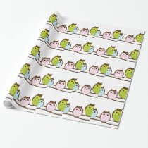 Cute Owl Family Wrapping Paper