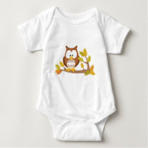 Cute Owl forest series Baby Bodysuit