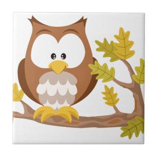 Cute Owl forest series Ceramic Tile